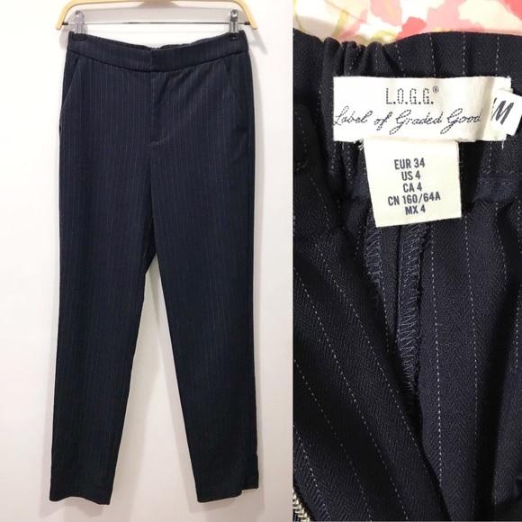 H&M Pants - H&M Pinstriped work pants, navy